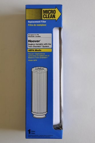Hoover Bagless Upright Replacement Filter. Fits Hoover Windtunnel, Empower and Savvy models with Twin Chamber System. Replaces OEM Part # 40140201, 43611042, 42611049, Type 201