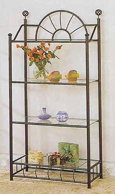 The Furniture Cove Black Metal Sunburst Book Case Bookcase Shelf