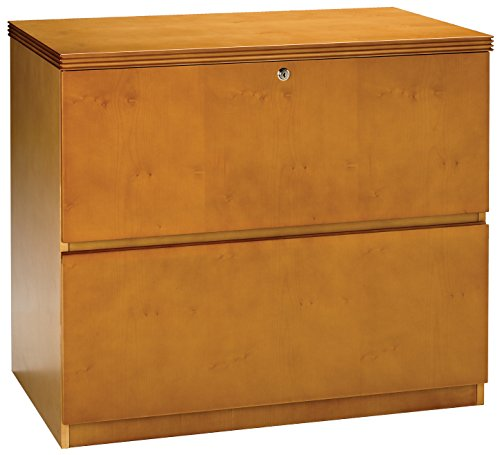 Mayline Luminary Series Freestanding 2 Drawer Lateral File (Finished Top), Maple Veneer (Mayline Group Luminary Series)