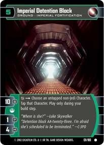 STAR WARS TCG A NEW HOPE FOIL IMPERIAL DETENTION BLOCK 131C