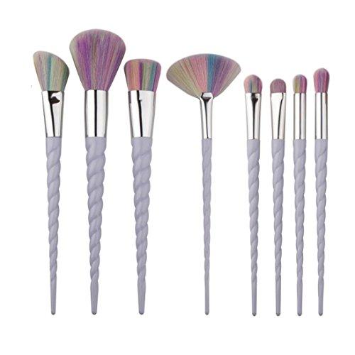 OVERMAL 8PCS Make Up Foundation Eyebrow Eyeliner Blush Cosmetic Concealer Brushes (Makeup Brushes Eld)