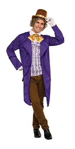 [Rubie's Men's Chocolate Factory Deluxe Willy Wonka Costume, Multi, Standard] (Willy Wonka Costume Accessories)