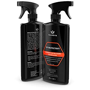 TriNova UV Protectant Spray - for Vinyl, Plastic, Rubber, Fiberglass, Leather & More - Prevents Fading & Cracking from UV Damage - Restores Color & Repels Dirt - Free of Residue - 18 OZ