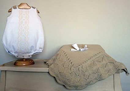 Pili Carrera - pelele, blanco beige, talla 1 mes
