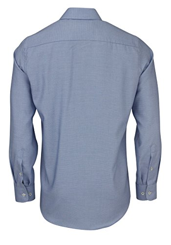 CASAMODA Modern Fit Hemd Langarm New Kent Kragen Muster blau