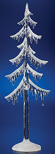 """Pack of 6 Icy Crystal Illuminated Decorative Christmas Icicle Tree Figures 12.5"""""""
