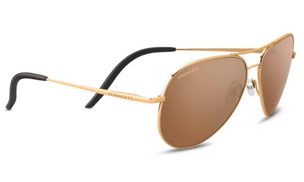 Serengeti Carrara Sunglasses Shiny Bold Gold, Gold