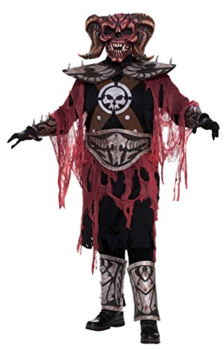[Forum Novelties Men's Demon Warrior Deluxe Adult Costume, Multi, Standard] (Mens Evil Knight Costumes)