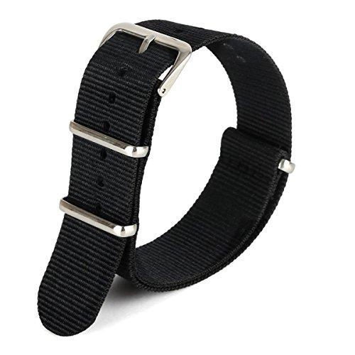 green-olive-20mm-nato-style-waterproof-ballistic-nylon-watch-strap-watch-bands-bracelet-black