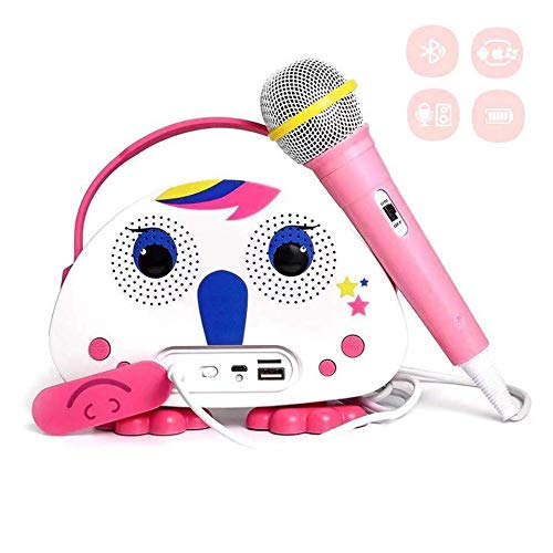 Karaoke Bluetooth Machine for Kids with Microphone Karaoke Players Wireless Childrens Singing Karaoke Speaker Indoor Outdoor Travel Activities Party Christmas Birthday Gift for Children Toddlers