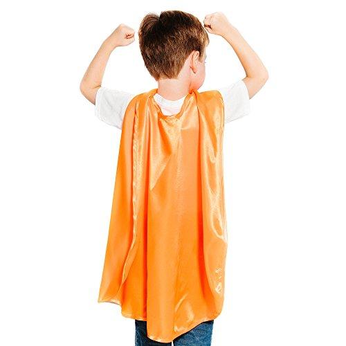 Everfan Orange Polyester Satin Superhero Cape - Kids]()