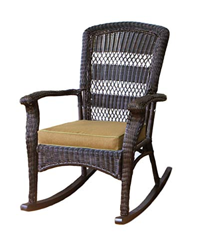 (Tortuga Portside Plantation Rocking Chair in Dark Roast)