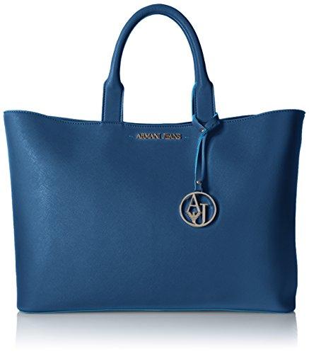 Armani Jeans Saffiano Color Trim Tote, - Shopping Armani Bag