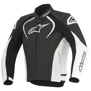 Alpinestars Jaws Perforated Leather Jacket (52) (Black/White)