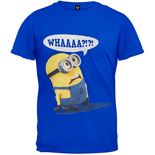 Despicable Me Whaaaa? Mens Royal Blue T-shirt -