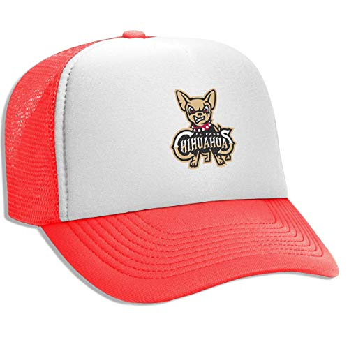 FKOGG Unisex El Paso Chihuahuas Cap, Breathable Mesh Trucker Hats Outdoor Sun Hats Beanies Red (Red Paso Blend)