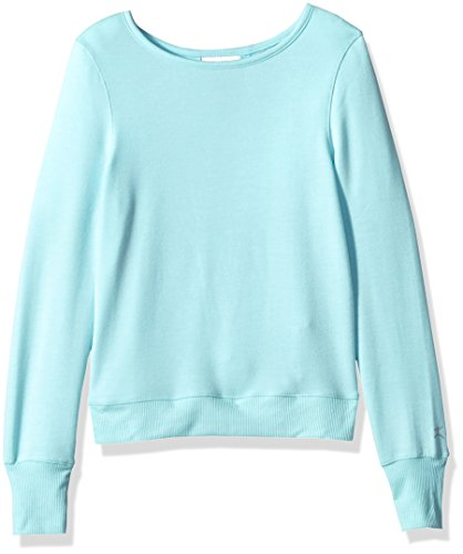 Danskin Big Girls' Criss Cross Sweatshirt, Island Paradise, L Cross Kids Sweatshirt