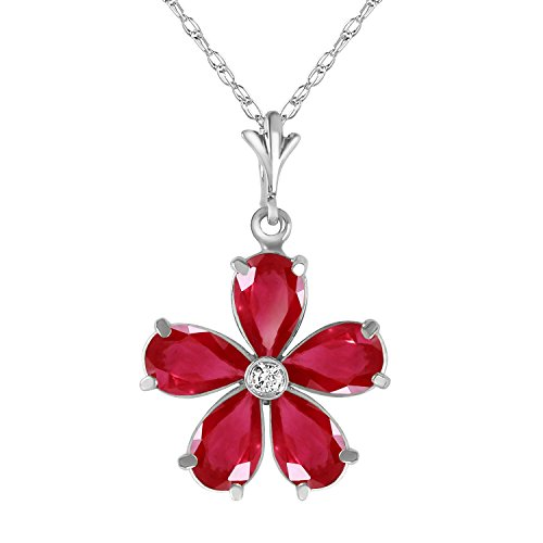 222-Carat-14k-Solid-White-Gold-Necklace-with-Natural-Rubies-and-Genuine-Diamond-Pendant