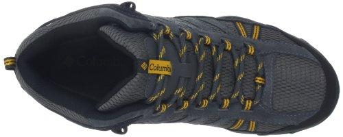 Columbia NORTH PLAINS MID WP - Zapatos de senderismo de material sintético hombre Grau (Charcoal, Gallion 030)