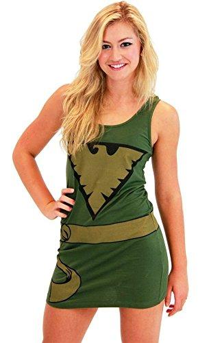 X-Men Phoenix Military Green Juniors Costume Tunic Tank Dress (Military Green) (Juniors X-Large) - Phoenix Costume X-men Movie