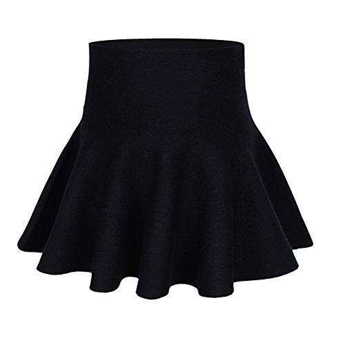 storeofbaby Little Big Girls#039 Casual Pleated Mini Skirt for Spring and Autumn 56 Years/Asian Size 3/Fits 130 cm Tall Black