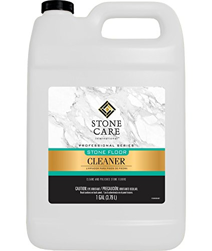 Stone Floor Cleaner - 128 Ounce - Stone Care International - Sealed Granite, Marble, Quartz, Travertine, Limestone, Slate, Tile, and Other Surfaces (Floor Slate Wax)