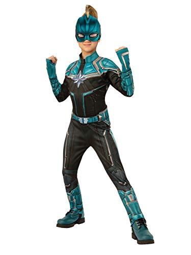 Captain Marvel Kree Costume Suit, Small Teal/Black -