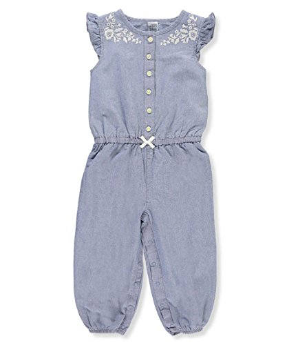 Carter's Baby Girls' Chambray Embroidery Jumpsuit