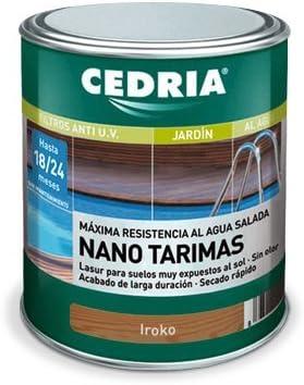 Lasur protector madera Cedria Nano Tarimas 4 litros Iroko
