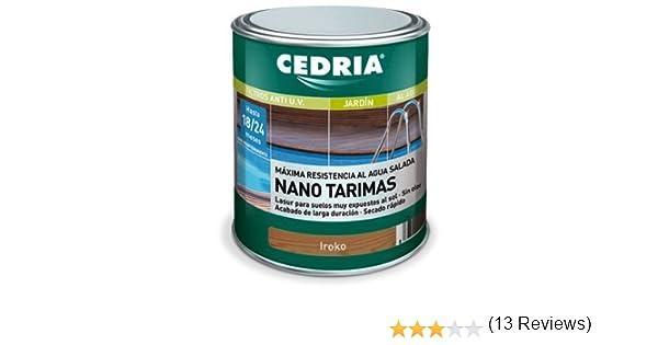 Lasur protector madera Cedria Nano Tarimas 4 litros Iroko: Amazon.es: Bricolaje y herramientas