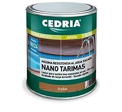 Lasur protector madera Cedria Nano Tarimas 4 litros Iroko: Amazon ...