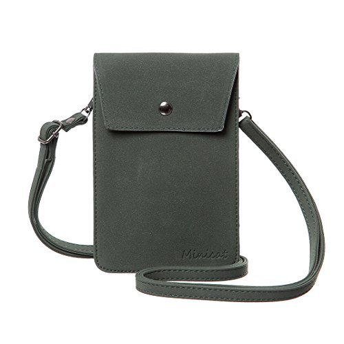 MINICAT Back Slot Series Small Crossbody Cell Phone Purse Wallet Smartphone Bags For Women(Brown-RFID Blocking) ()