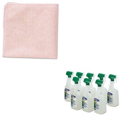 KITPAG22569CTRCP1820581 - Value Kit - Rubbermaid Microfiber Cleaning Cloths, 16 X 16, Red (RCP1820581) and Procter amp; Gamble Professional Disinfectant Bath Cleaner (PAG22569CT)
