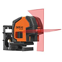 Tacklife SC-L02 Classic Self-Leveling Cross-Line Laser 65 Feet Horizontal/Vertical Line Laser with Magnetic Base and Laser Target Card Battery Included