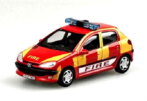 Cararama Peugeot 206 Fire Rescue car 1.43 scale diecast model by cararama