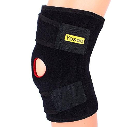 Rodillera Soporte Ajustable para la artritis, ACL, Menisco, Corriendo, Baloncesto.Soporte de Neopreno rodilla no voluminoso,...