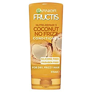 Garnier Fructis Coconut No-Frizz Conditioner for Frizzy Hair 315ml