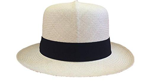 Torrey Pines Grade 8 Authentic Panama Hat by HMD Ecuador 100% Handmade Toquilla Straw (XXL, Black) by HMD Ecuador