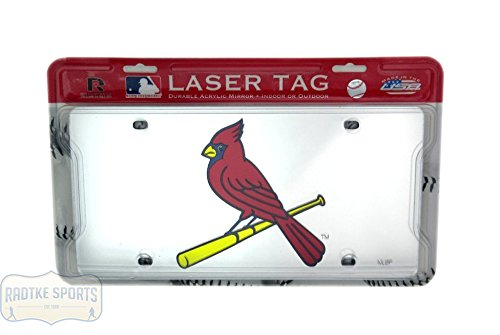 St. Louis Cardinals Officially Licensed MLB Mirror Laser Tag License Plate (Cardinal Mirror)