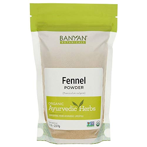 Banyan Botanicals Fennel Seed Powder - USDA Certified Organic, 1/2 lb - Foeniculum vulgare - Spice & Herbal Supplement for Digestive Comfort ()