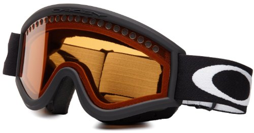 Oakley Unisex-Adult O Frame Snow Goggle(Jet Black,Persimmon)