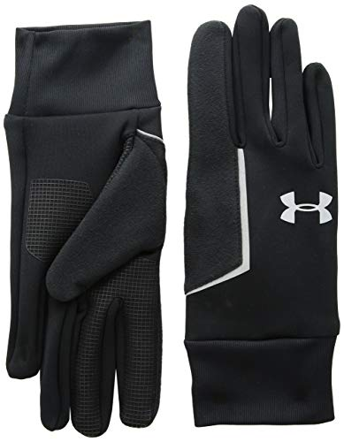 Under Armour Men's Ss Coldgear infared Run Liner Gloves, Black (001)/Silver, X-Large