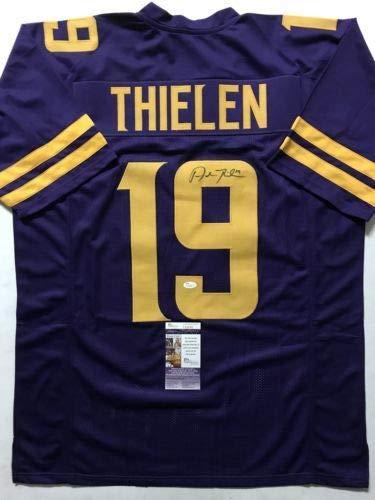 Autographed/Signed Adam Thielen Minnesota Color Rush Football Jersey JSA COA