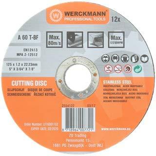 Discos de corte INOX 12 unidades de 125 x 1.2 mm Disco de ...