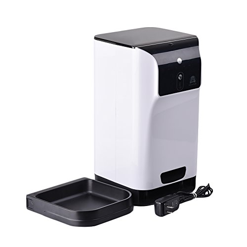 Yunt Automatic Smart Feeder Monitoring Wifi Pet Dog Cat Feeder Automatically Provide Fresh Healthy Meals and Put Pet on a Diet by Yunt