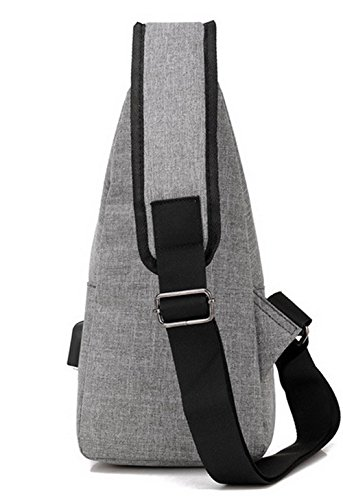 Cross Canvas Women's WeenFashion Handbags AMGBX181339 Gray Fashion Satchel Zippers Body AgFwqBUx