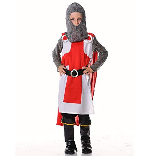 Kids Knight Roman Fancy Dress Up Costume (7-9) ()