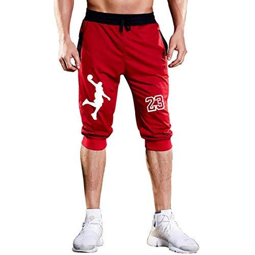 Mens Shorts Jordan 23 Jogger Knee Length Sweatpants Man Fitness Drawstring Short