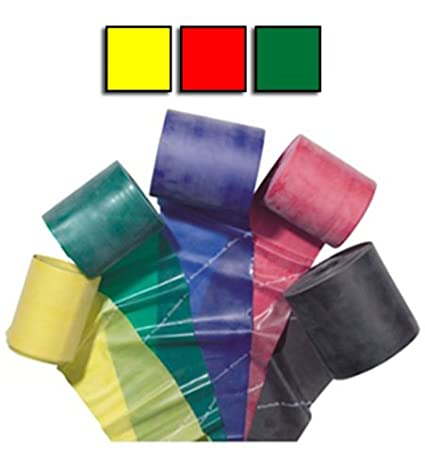 Red Yellow confezione da 3 fasce elastiche rosso e verde colori giallo Green Theraband