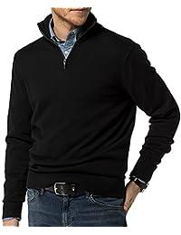 Men's Quarter Zip Pullover Sweater Regular Fit